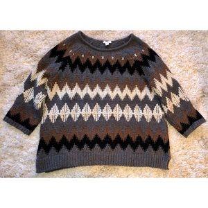 J. Jill Chevron Sweater